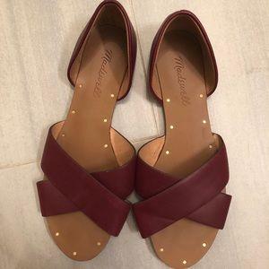 Madewell CrissCross Sandals - Burgundy